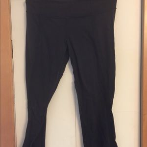 Lululemon pants, size 8. Black with piping.